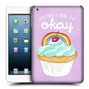 Head Case Designs Rainbow Cupcake Happiness fijación-carcasa rígida protectora para Apple iPad mini