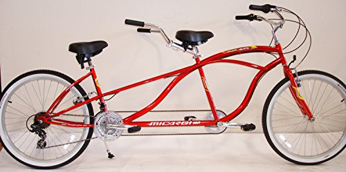 "J Bikes by Micargi Island 26"" 18-Speed 2-Seater Tandem Bicyc"