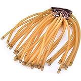 Ubesta Lot de 5 bandes élastiques à 6 cordes en caoutchouc  pour lance-pierreNoir/jaune