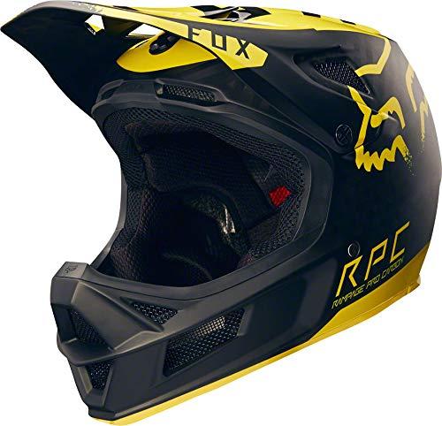 - Fox Racing Rampage Pro Carbon MIPS Helmet Black/Yellow, XL