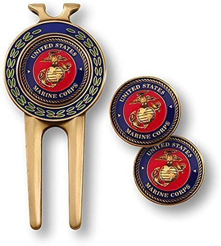 Armed Forces Depot U.S. Marine Corps Divot Tool and Ball Markers
