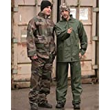 Waterproof Mens Jacket Trousers Rain Suit Rainproof Fishing Work Set Olive