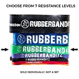 RubberBanditz Pull Up Assistance Resistance Band, 7 Different Exercise Bands | 5-200 lbs. Tension Bands: Mobility, Stretching, Pilates, Chin Ups Assist, Powerlifting, Functional Fitness & CrossFit