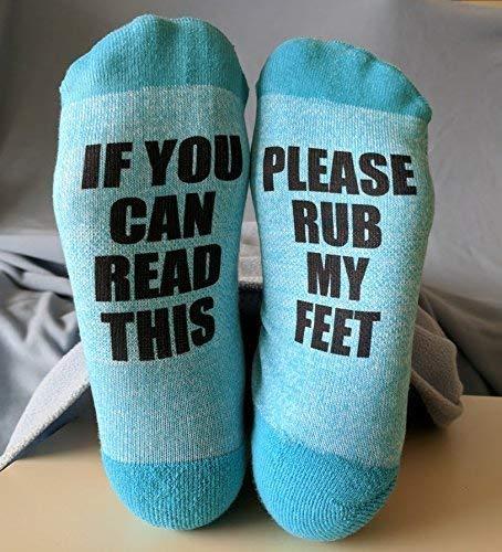 Amazon Com Socks For Women Rub My Feet If You Can Read This Handmade