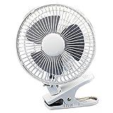 "Best Clip Fans - LORELL 6"" Clip-On Fan,2-Speed,5' Cord,8""x6""x9-1/2"",White Review"