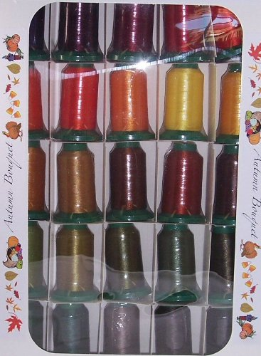 Poly X 40 Embroidery Machine Thread 25 Spool Autumn Colors Set by Poly X 40