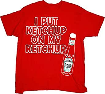 Heinz I Put Ketchup on My Ketchup Red T-Shirt Tee (Adult Small)
