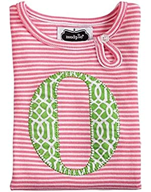 Baby Newborn Girl Pink Initial Tunic & Legging Set 0-6 Months (Letter O)