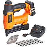 VonHaus 18V Lithium-Ion Cordless 18 Gauge Brad Nailer and Stapler Kit - Includes 2.0Ah li-ion Battery, Charger, Belt Hook, 500 Staples and 500 Brad Nails 15/396US