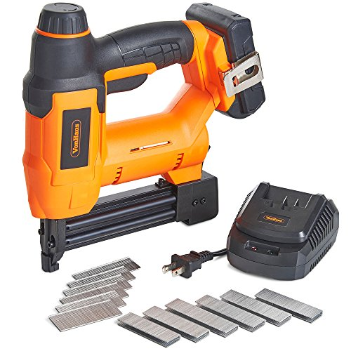 Kit 2 Gauge Batteries 18 (VonHaus 18V Lithium-Ion Cordless 18 Gauge Brad Nailer and Stapler Kit - Includes 2.0Ah li-ion Battery, Charger, Belt Hook, 500 Staples and 500 Brad Nails 15/396US)