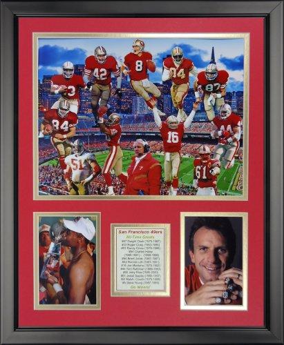 Legends Never Die NFL San Francisco 49ers Greats Framed Photo Collage, 18