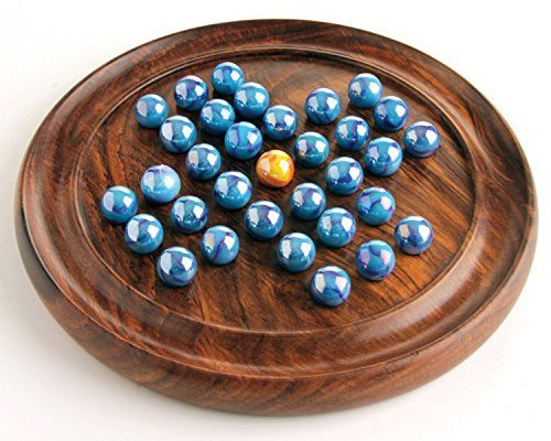 - House of Marbles Wooden Solitaire Coffee Table Board Game Vintage Entertainment