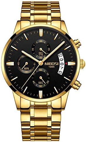 全金の腕時計の人のステンレス鋼の人は贅沢な防水スポーツのアナログの水晶腕時計を見ます