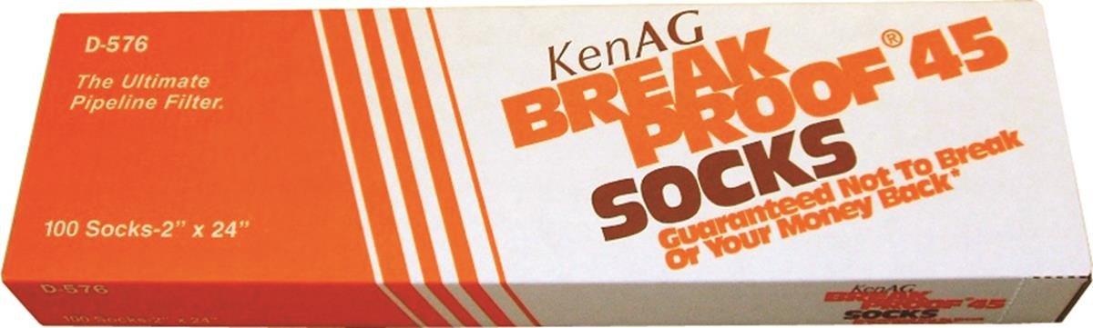 KEN AG D576 391212 Breakproof Milking System Filtering Sock Tan, 2 x 24''