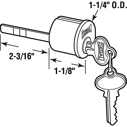 Prime Line Products Se 70002 Brass Key Lock Cylinder
