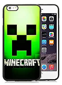 minecraft cube Black iPhone 6 Plus 5.5 inch TPU Cellphone Case Luxurious and Newest Design
