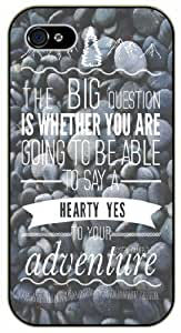 Are you going to be able to say YES to your adventure - Rocks pattern - Adventurer iPhone 5C plastic case BLACK - (Row 11-C)