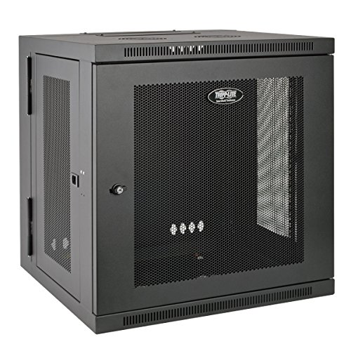 Tripp Lite 10U Wall Mount Rack Enclosure Server Cabinet, Hinged, 20.5″ Deep, Switch-Depth (SRW10US)