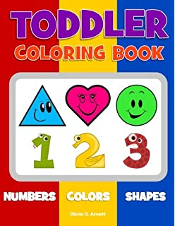 toddler coloring book numbers colors shapes baby activity book for kids age 1 - Coloring Books For Preschoolers