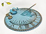 Brass Decorative Sundial 10'' Inches Wide - With 4 Ducks