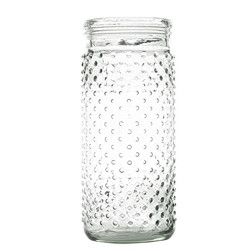 Hobnail Clear Glass - Clear Hobnail Glass Jar - 4