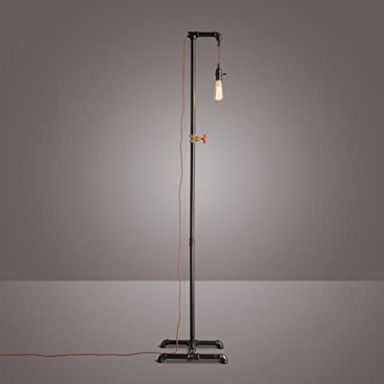 Lámpara de pie vintage loft Salón de estar americano Lámpara ...