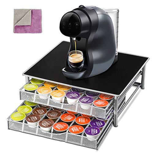 Masthome Koffie Opberglade Houder voor Dolce Gusto Capsule 72 Capsule Koffie Pod Houder-Stuur 1 st Reinigingsdoek