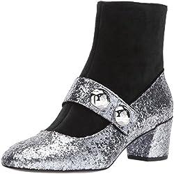 Marc Jacobs Women's Margaux Cabochon Ankle Boot, Antique Silver, 38 M EU (8 US)