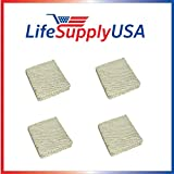 LifeSupplyUSA 4 Pack - Humidifier Evaporator Pad Filter with Wick fits Skuttle A04-1725-052, Model 2000