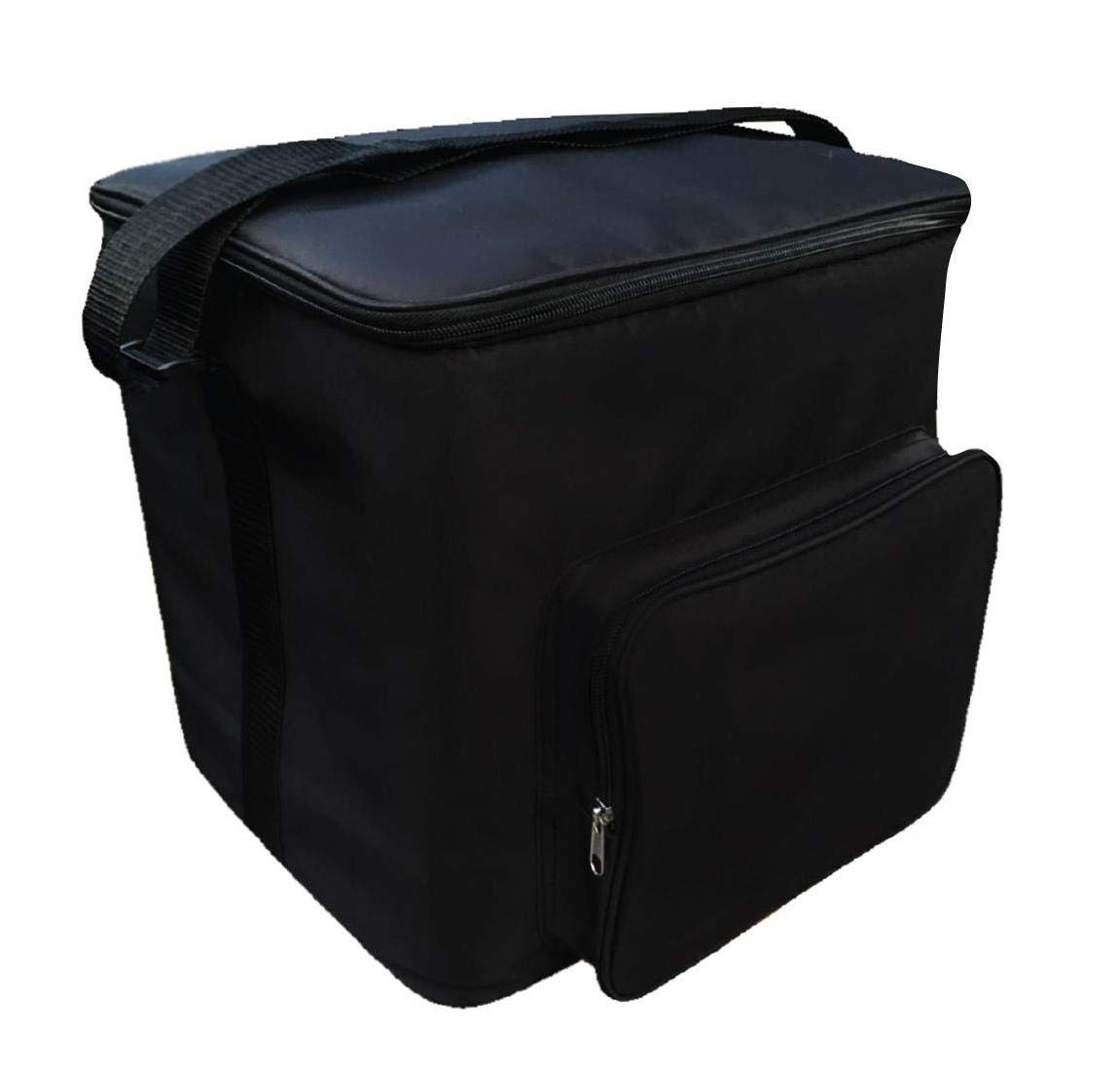 Two Lumps of Sugar Potluck Tote – Insulated Slow Cooker Carrier with Heat Resistant Interior and Optional Cooler Lining (Black)