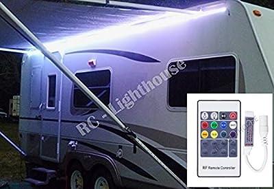 Premium RV LED Camper Awning Boat 16' Light Set with 20 key RF Remote RGB 16' ft Waterproof
