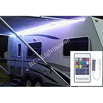 Premium RV LED Camper Awning Boat 16 Light Set With 20 Key RF Remote RGB Ft Waterproof
