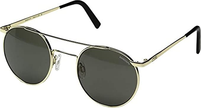 c9816e15c49 Amazon.com  Randolph P3 Shadow Sunglasses Gold 23K Skull Glass Gray ...