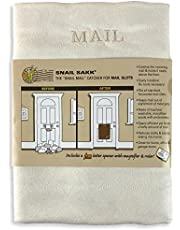 SNAIL SAKK: Mail Catcher For Mail Slots - CREAM (warm white). No tools/screws needed! Space efficient, reduces drafts, protects privacy and much more. For home, office, and garage doors. ( Basket Letter Cage Post Box Disabled Elderly Maternity Hardware Excluder Opener )
