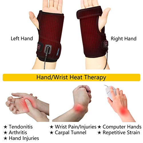 Heated Wrap 3 Level Controller with Pads for Moist Heat Therapy, for Arthritis, Carpal Tendonitis, Sprains