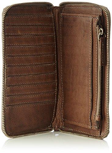 Cowboysbag Purse Harrogate Damen Leder Geldbörse im Vintage - Look (20 x 12 x 3 cm) Grau (Grey 140)