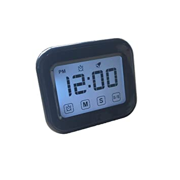 Temporizador de cocina pantalla táctil temporizador de cocina digital cuenta regresiva/12/24 hora