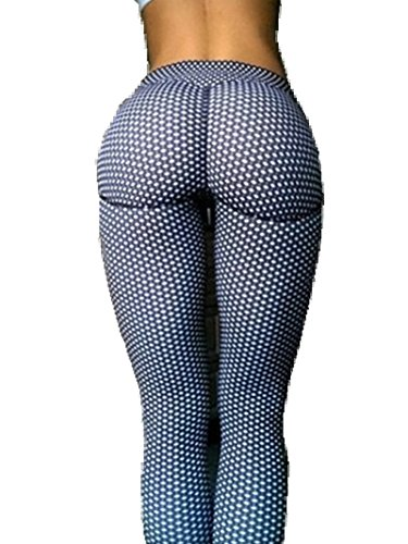 Sorrica Women s Activewear Printed Athletic Gym Workout Fitness Yoga Leggings Pants (10, Dot)
