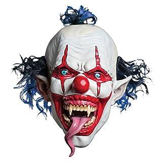 Morbid Enterprises Snake Tongue Evil Clown Mask, Red/White/Blue, One Size