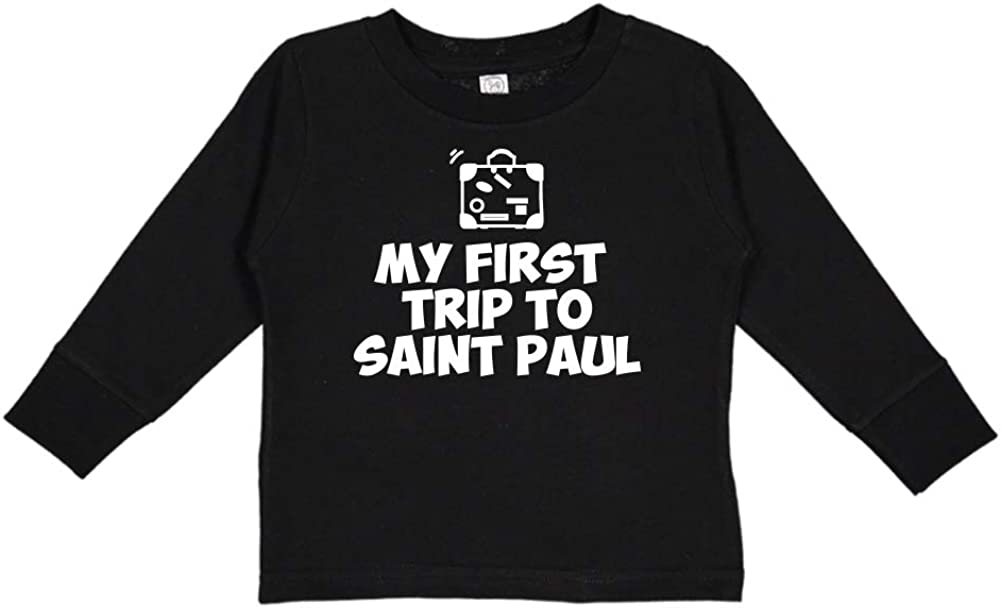 Mashed Clothing My First Trip to Saint Paul Toddler//Kids Long Sleeve T-Shirt