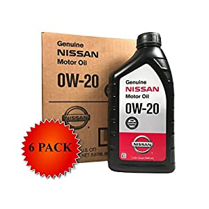 Genuine Nissan Synthetic 0W-20 Motor Oil 999PK-000W20N (Case of 6)