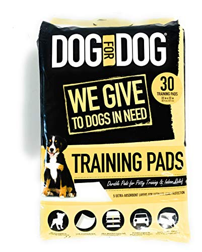 (❶ DOG for DOG Pet Training Puppy Pads For Dogs - Ultra Absorbent, Tear-Resistant and Durable - 5 Layers With Leak Protection for Puppies - 22x22 in (30-Count))