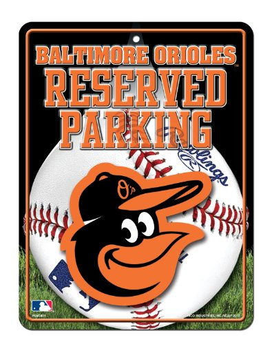 MLB Baltimore Orioles High-Res Metal Parking Sign