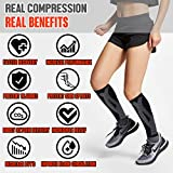 BLITZU Calf Compression Sleeves For Women & Men Leg