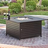 Best Choice Products Extruded Aluminum Gas Outdoor Fire Pit Table...