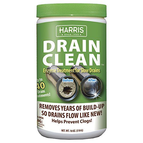 Harris Natural Enzyme Drain Cleaner and Clog Remover, 40 ...