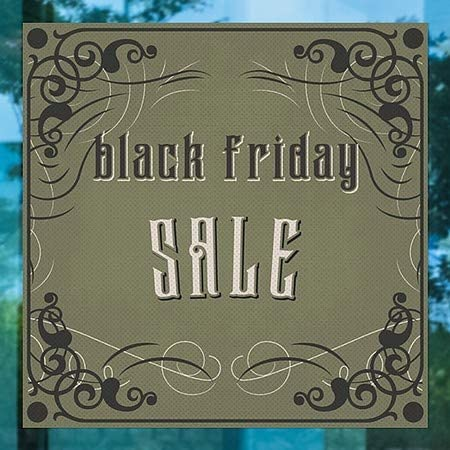 CGSignLab 24x24 5-Pack Victorian Gothic Perforated Window Decal Black Friday Sale