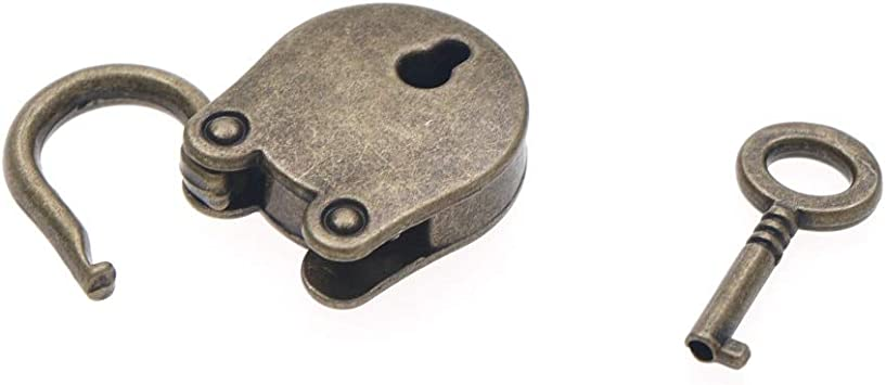 Locks - Mini Padlock Small Luggage Box Key Lock Copper Color Home Usage Hardware Decoration Metal Old - Purse Style Black Keyed Latch Master Padlocks Alike Silver Luggage Gold Padlock Diary: Amazon.es: