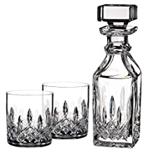 Waterford Lismore Connoisseur 5oz Tumbler Pair with 15.5oz Square Decanter