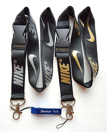 Nike Key Chain Mobile Phone MP3 Holder Neck Straps Lanyard (2pcs Black)
